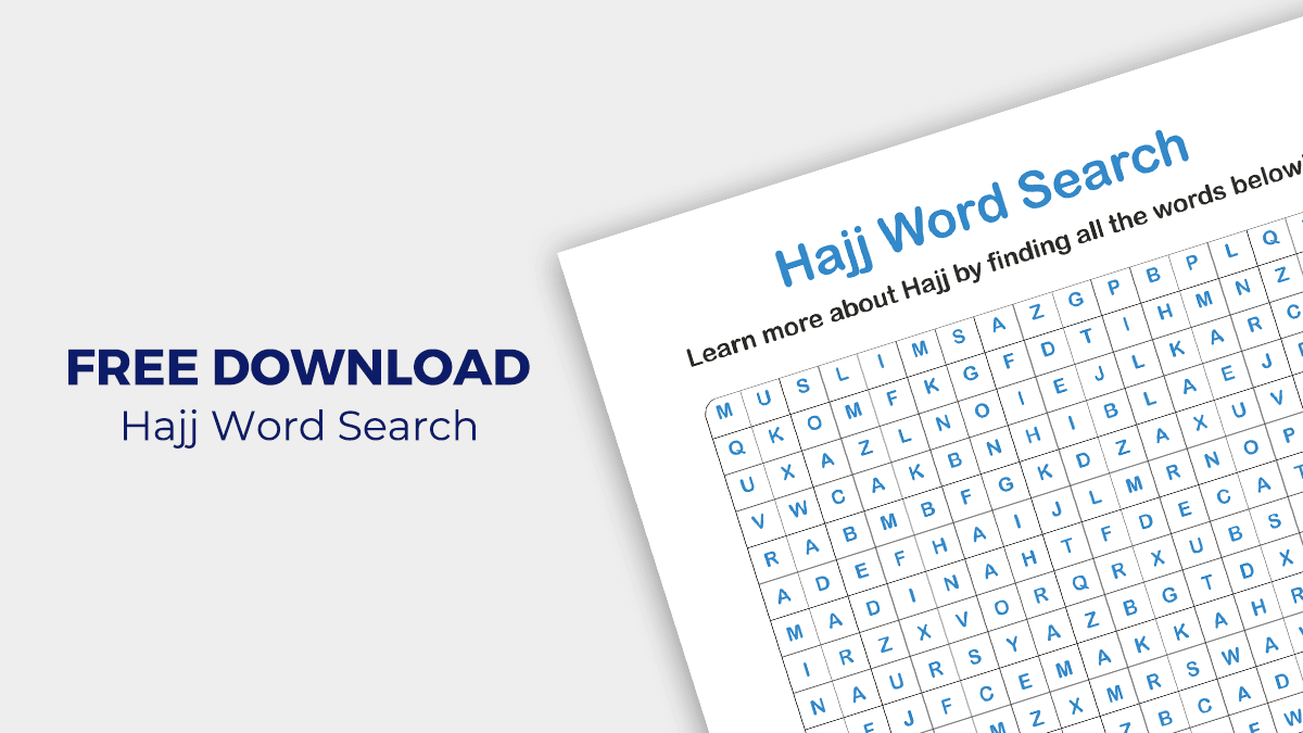 [FREE DOWNLOAD] Hajj Word Search